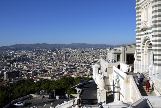 Panorama sur Marseille depuis Notre-Dame de la Garde.