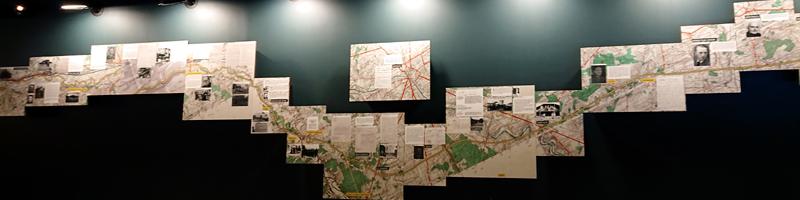 Carte murale historiée de la ligne de démarcation
