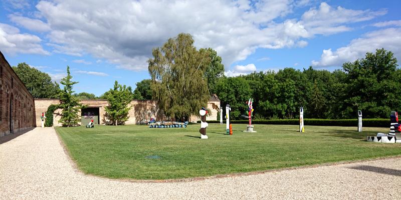 Jardin de sculptures de la galerie Capazza