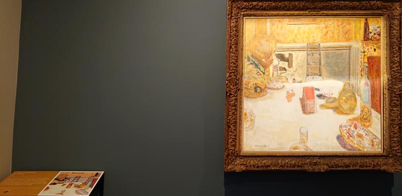 Musée Bonnard, tableau La salle à manger du Cannet, et sa table tactile sonore et braille