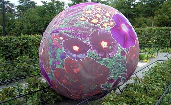 Installation ludique au Festival des jardins de Chaumont.