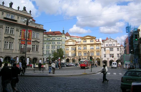 Place Malá Strana à Prague.