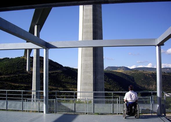 Panorama depuis l'Espace Info du viaduc de Millau