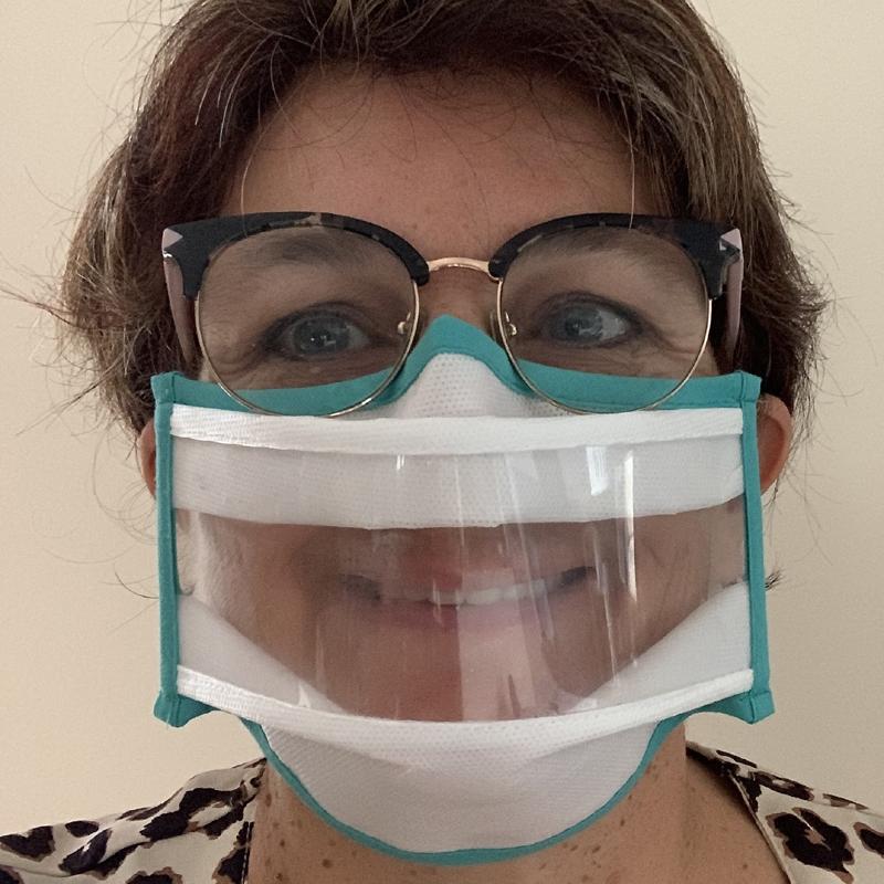 Masque transparent Lux et Elles