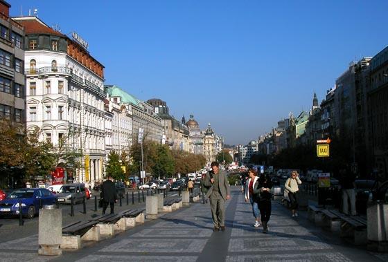 Place Venceslas à Prague.